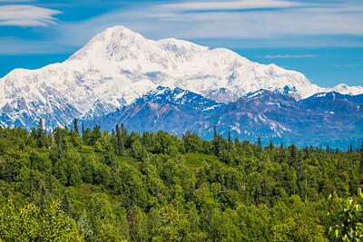 Denali - Also known as Mt. McKinley is the highest mountain peak in North America.