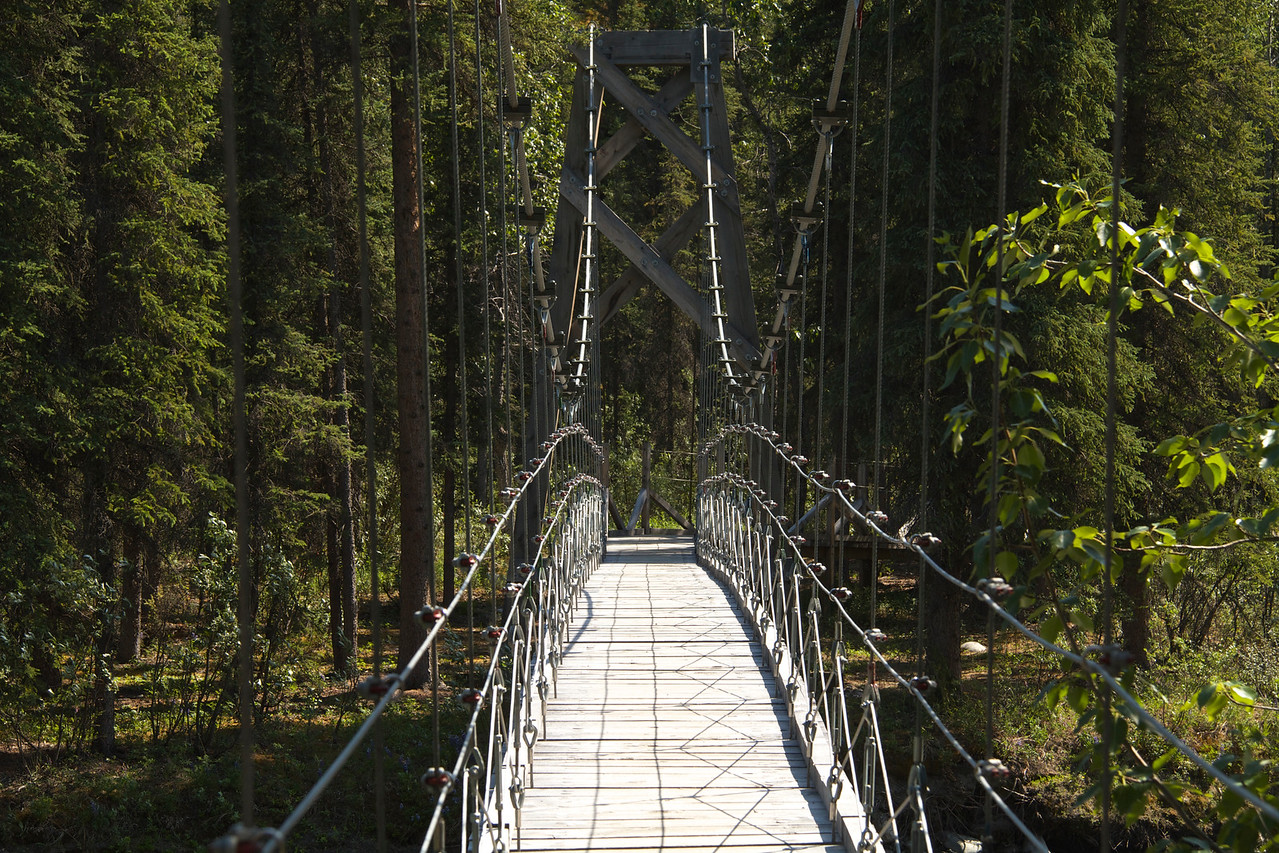 This is the bridge that made completing the Triple Lakes Trail possible without crossing the ARR bridge.