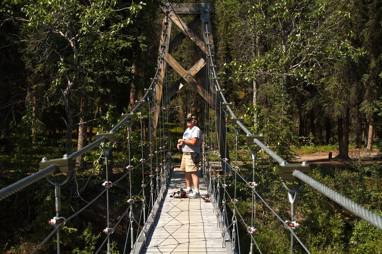 Bill on the Riley Creek bridge.