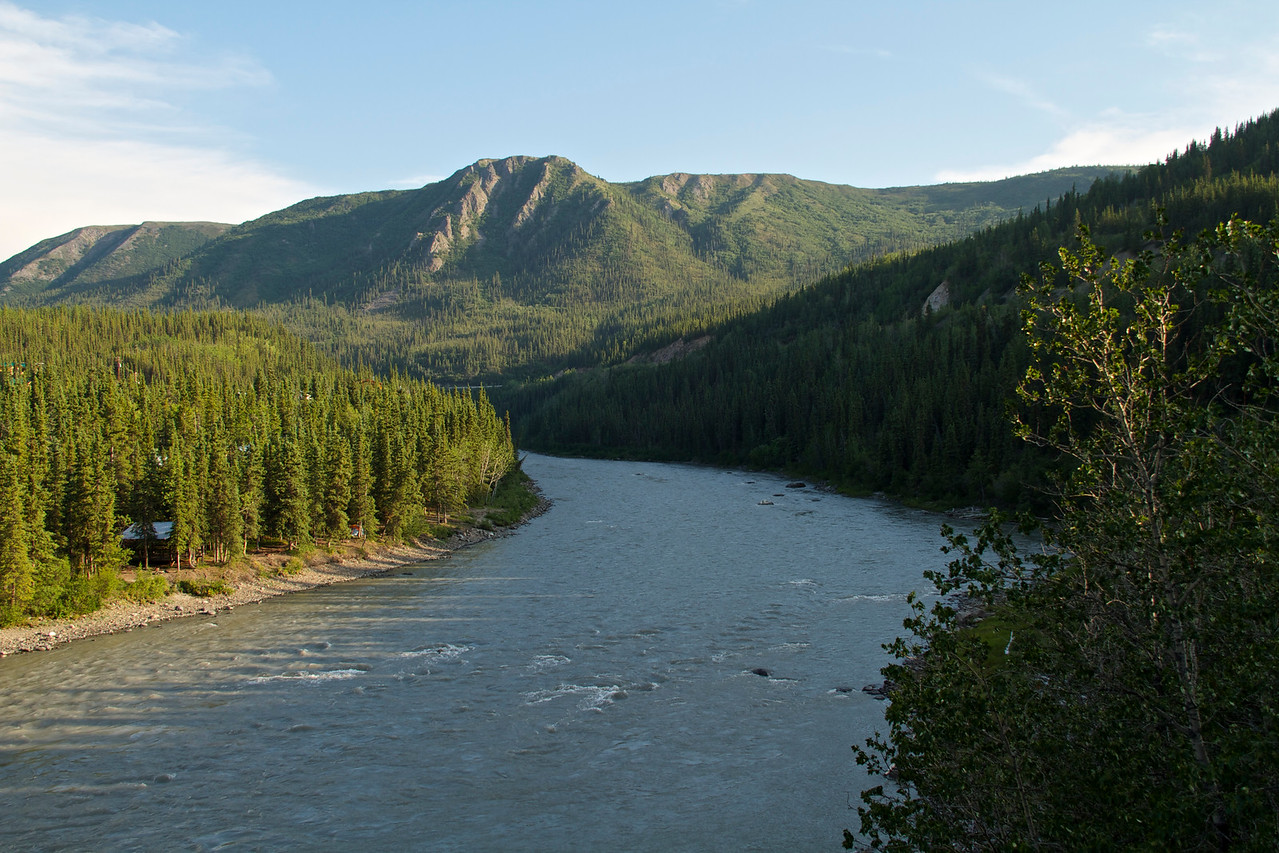 The Nenana River at trail's end.