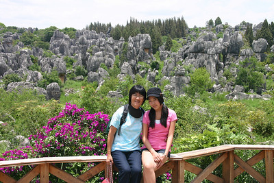 Andrea and I at the Stone Forest.