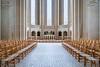 The Luthern Grundtvig's Church interior in Copenhagen, Denmark.