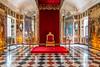 Interior of the Rosenborg Castle in Copenhagen, Denmark.