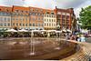 A city square in Copenhagen, Denmark.