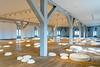 An art installation in the Round Tower, Trinitatis Church complex in Copenhagen, Denmark.