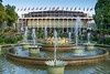 The Tivoli Gardens Concert Hall and fountains, Copenhagen, Denmark.