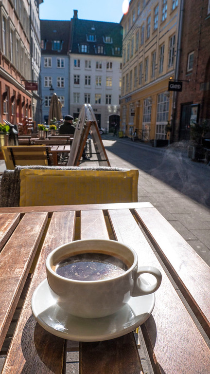 Den Lille Gule Kaffebar, or The Little Yellow Coffeebar in Copenhagen Patio