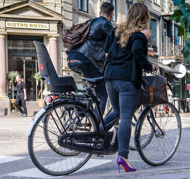 Biking in Louboutins