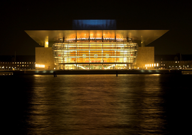 Copenhagen Opera House, situated in what used to be Copenhagen harbor.