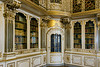Library with reflections, Christiansborg Palace, Copenhagen, Denmark