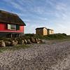 Beach huts at Ærø island