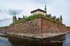 Kronborg Castle (Hamlet's castle) seen from the moat, Helsingor, Denmark