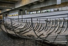 Remains of Skuldelev 1, a Viking ship found in Roskilde Fjord in 1962, Viking ship museum, Roskilde, Denmark