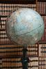 Old globe in the library of the Carlsberg Laboratory (1975), Copenhagen, Denmark