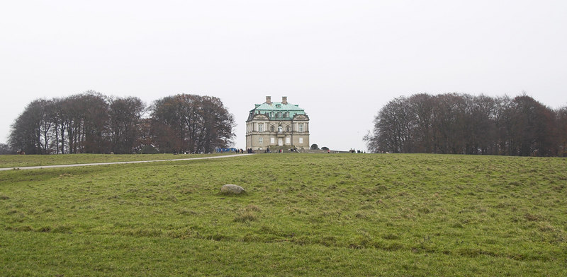 The Eremitage hunting chateau is on the top of a low hill in Dyrehaven. There's a great view all around from up there, and on a clear day you can see Sweden across The Sound. This is the view from the west.