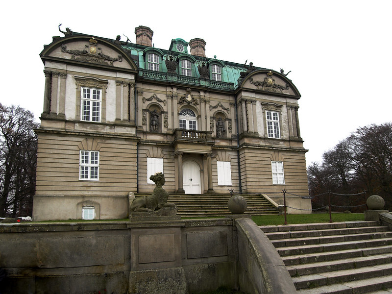 A view of the front of Eremitageslottet. It is not open to the public, and is only used by the Royal Family occasionally.