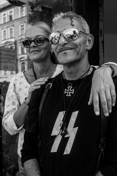 Couple on the streets of Copenhagen