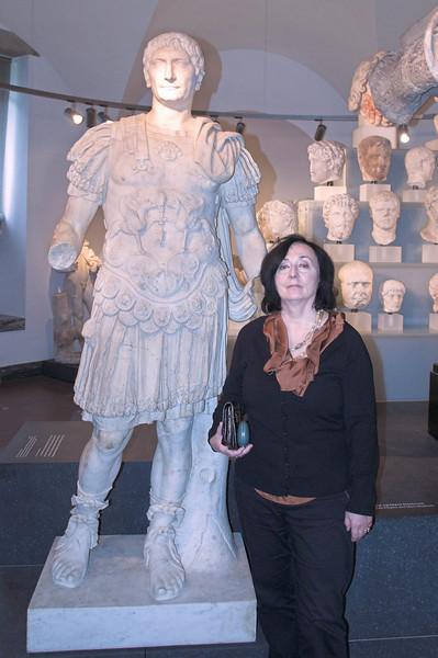 Zosia and Friend<br /> <br /> The friend is the Roman emperor Trajan. This was taken at the Glyptotek museum in Copenhagen, Denmark.