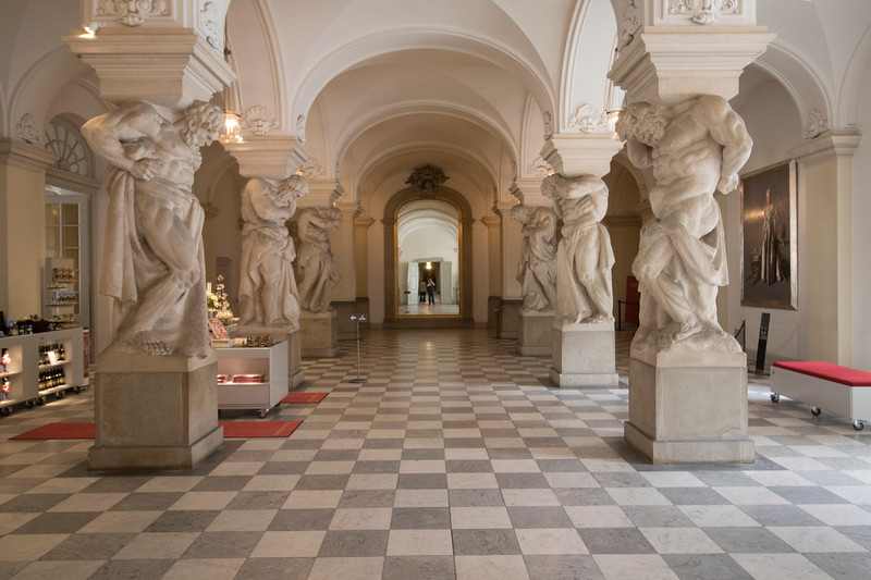 Hall of Giants at the castle at Christiansborg