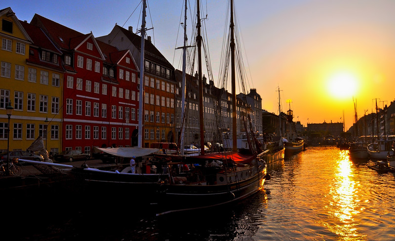 Nyhavn at Sunset. 2010.