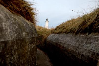 Hirtshals Fyr Lighthouse, Hirtshals Bunker Museum, Jutland, Denmark
