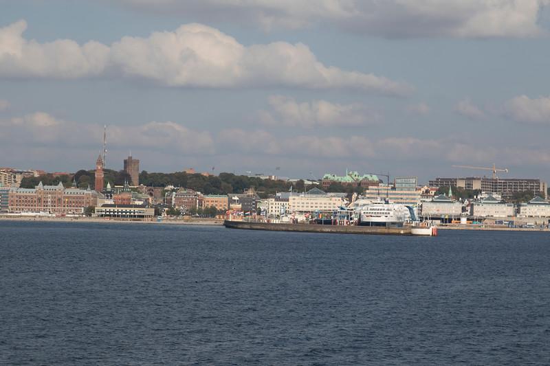 Helsingborg, Sweden, seen from the ferry