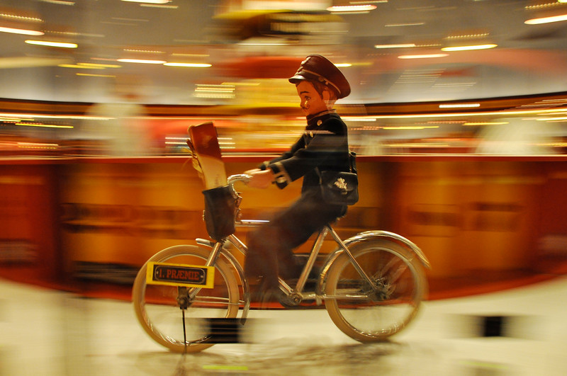 Figurine on Bike at Tivoli Gardens. 2010.