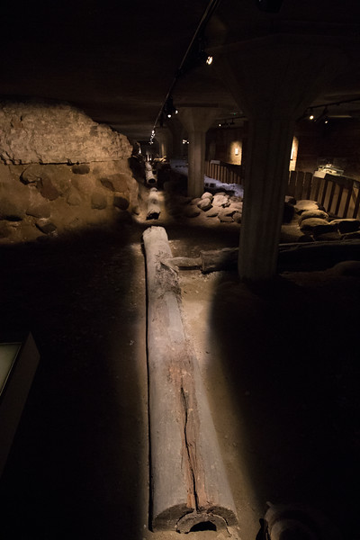 Hollow logs used as plumbing in the earlier castle