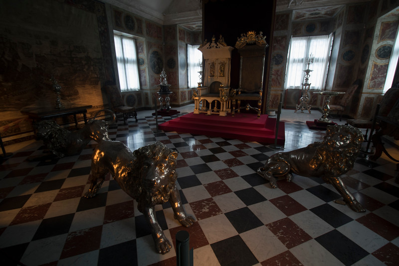 Silver lion and the throne of the Absolutist Danish Kings