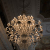 Completely glass chandelier at Christiansborg