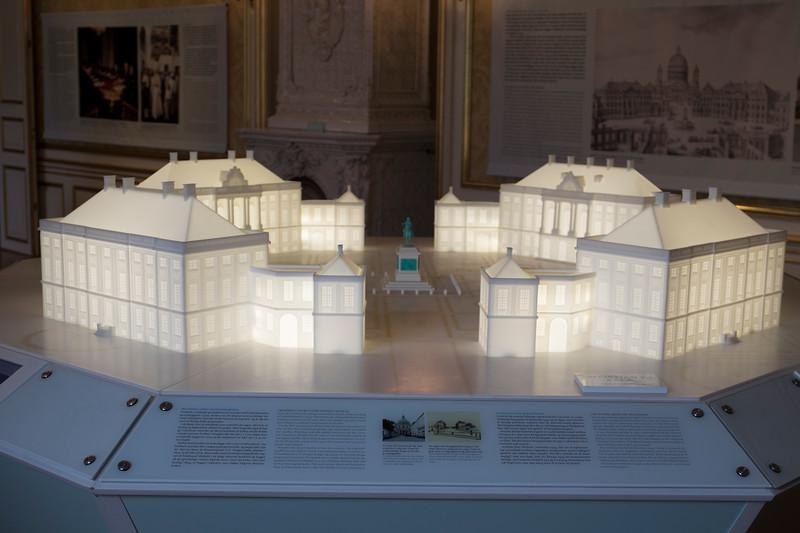 Model of Amalienborg palace