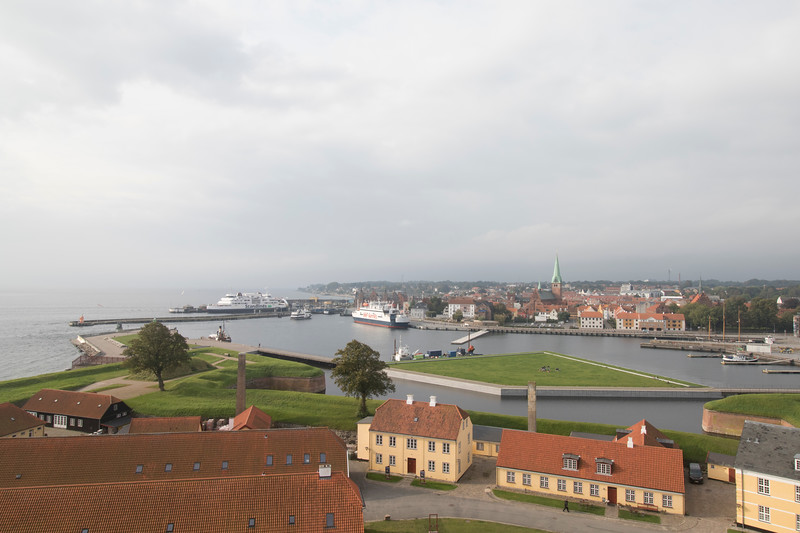View out over Helsingør