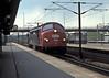 DSB MX1042 passes through Hoje Tastrup light engine on 26 April 1990