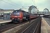 DSB ME1511 works through Hoje Tastrup with a service from Kobenhavn on 26 April 1990