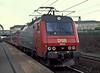 DSB EA3003 is at Hoje Tastrup with a Kobenhavn bound service on 26 April 1990
