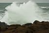 Boom! A crashing wave at Boiler Bay on the northern Oregon coast.