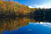 A small lake near Bushkill Falls in east central Pennsylvania shortly before sunset