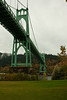 The St Johns Bridge, the prettiest bridge in a city known for its bridges.