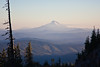 Looking south from Timberline Lodge on Mt Hood toward Mt Jefferson, with the Three Sisters in the background, almost 100 miles away.