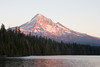 Looking south across Lost Lake toward Mt Hood, a little before sunset.