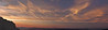 A panorama of the sunset looking across the Columbia River from Larch Mountain. In the larger sizes you can see St Helens and Adams, and just catch a glimpse of Rainer in between them.