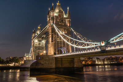 Tower Bridge at Night HDR