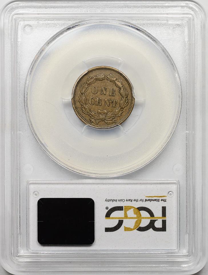1859 CENT - INDIAN HEAD, COPPER-NICKEL PCGS AU55 CAC Reverse