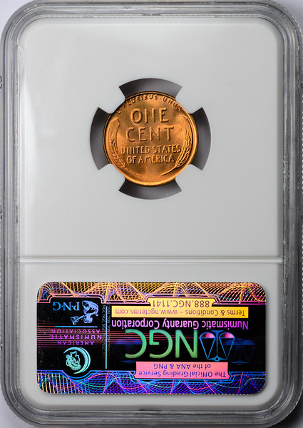 1952 CENT - LINCOLN, WHEAT NGC MS66 RED CAC Reverse