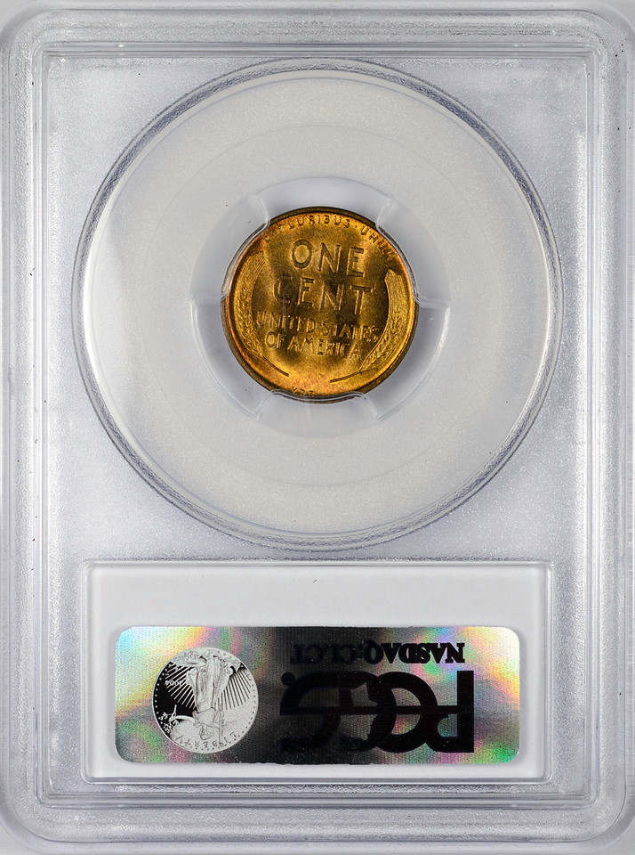 1909 CENT - LINCOLN, VDB WHEAT PCGS MS65 RED BROWN CAC Reverse