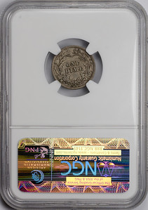 1900 S DIME - BARBER LIBERTY HEAD NGC AU58 CAC Reverse