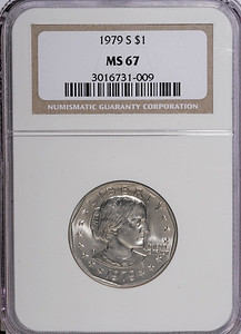 1979 S DOLLAR - ANTHONY NGC MS67 Obverse