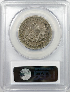 1853 HALF DOLLAR - SEATED LIBERTY, ARROWS & RAYS PCGS XF40 CAC Reverse