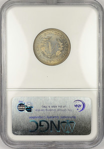 1883 FIVE-CENT PIECE - LIBERTY HEAD, NO CENTS NGC MS65 CAC Reverse