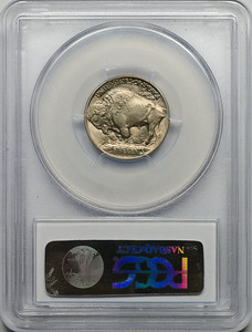 1913 FIVE-CENT PIECE - BUFFALO, TYPE 1 PCGS MS65 CAC Reverse
